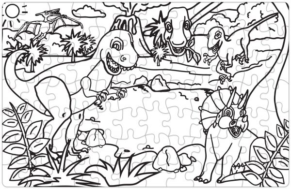Get Your Cray On Puzzle - Dinosaur
