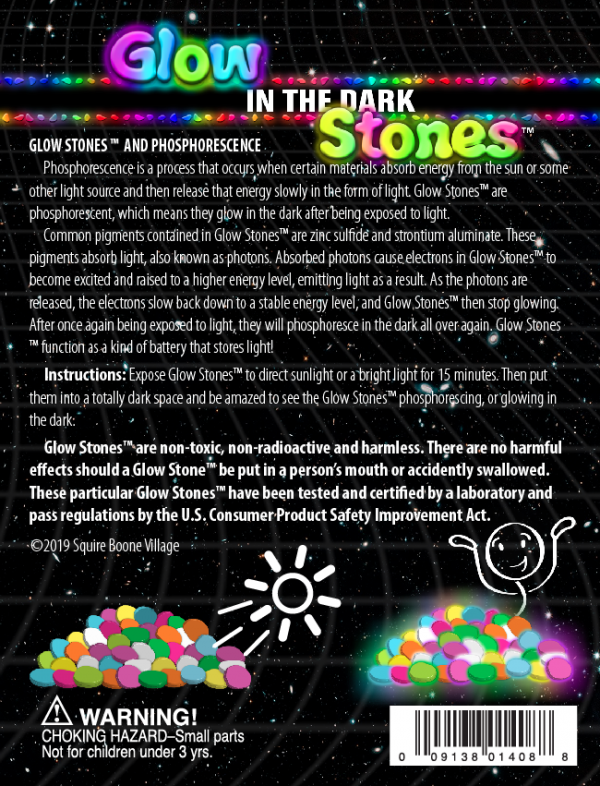 Glow Stones and Phosphorescence Information Card