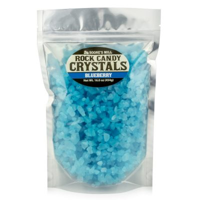 Rock Candy Crystals Light Blue/Blueberry 1 lb Resealable Bag