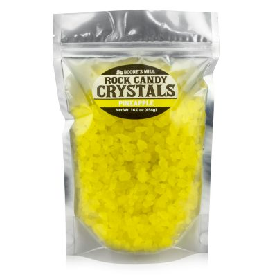 Yellow/Pineapple Rock Candy Crystals in 1 pound bag